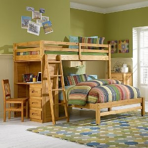 Twin Over Twin Bunk Beds With Desk